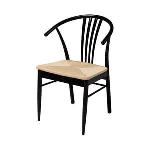 Čierna jedálenská stolička z brezového dreva Interstil York