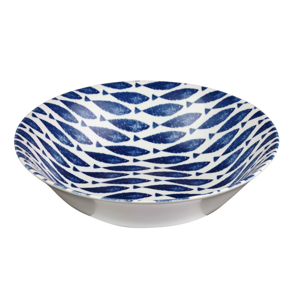 Hlboký tanier Churchill China Couture Fishie Blue, Ø 24 cm