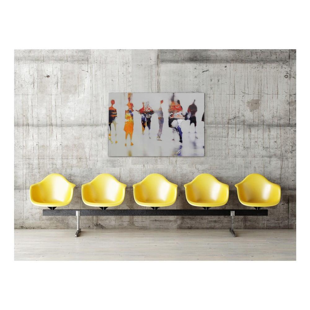 Sklenený obraz OrangeWallz People, 80 x 120 cm