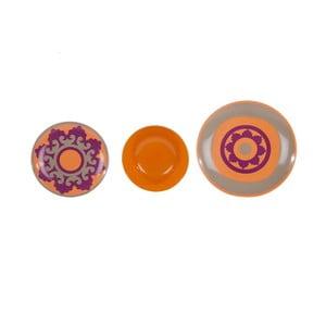 Sada 18 ks keramických tanierov Morgana Orange