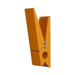 Oranžový vešiak v tvare štipca Swab