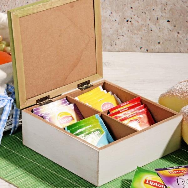 Bambusový box na čaj so 4 priehradkami Herbal