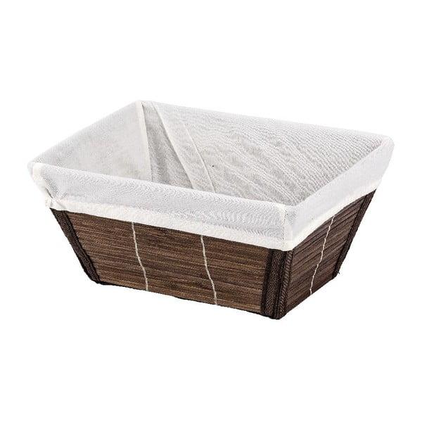 Hnedý košík Wenko Bamboo, 15x20cm