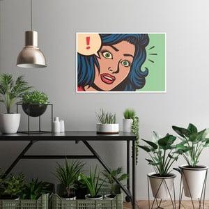 Obraz na plátne OrangeWallz Pop Art Woman, 60 x 90 cm