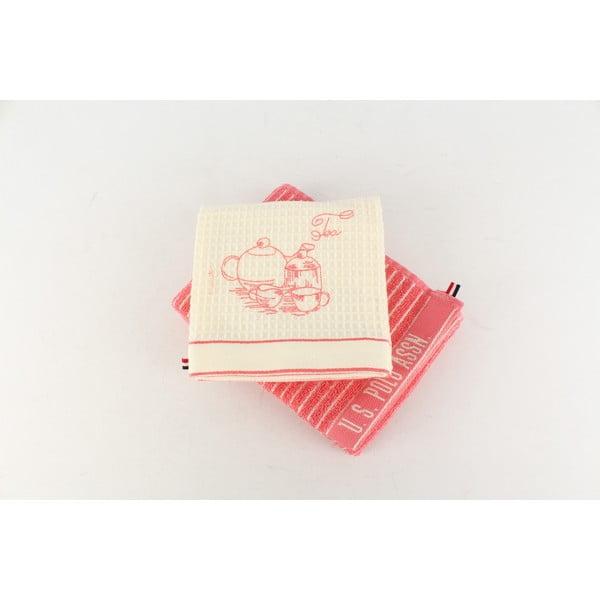 Sada 2 utierok U.S. Polo Assn. Sturgis Pink, 50x70 cm