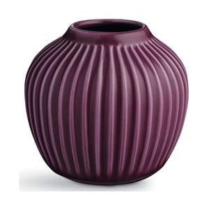 Fialová kameninová váza Kähler Design Hammershoi, výška 12,5 cm