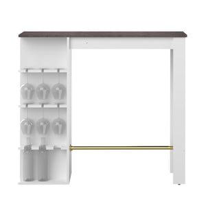 Biely jedálenský stôl s barom Symbiosis Viso