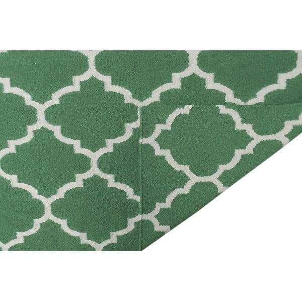 Zelený vlnený koberec Bakero Elizabeth, 200 x 140 cm