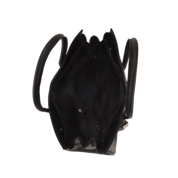 Čierna kožená kabelka Florence Gallina
