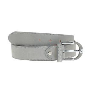 Sivý kožený opasok Giulia Bags BLT, dĺžka 110 cm