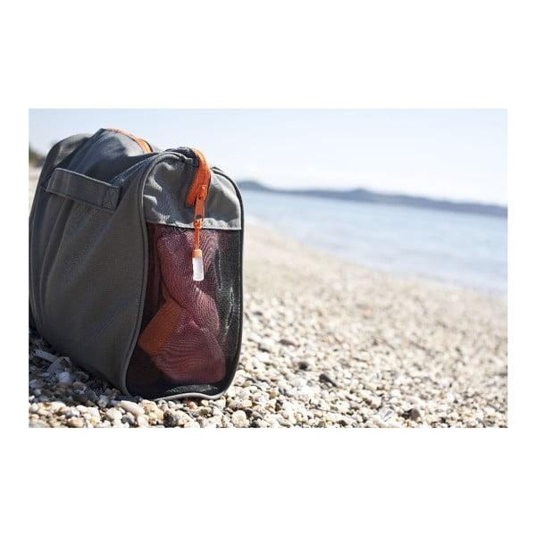Fialová plážová osuška srohovýmivreckami Terra Nation One Moe, 90x180cm