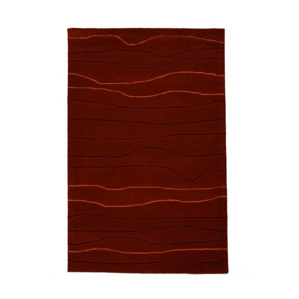 Ručne tkaný koberec Tufting, 120x180 cm, vínový