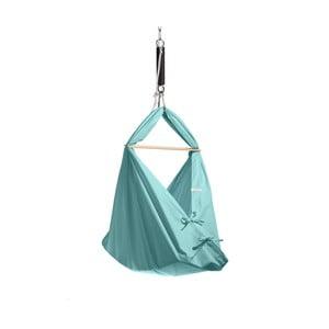 Malá mentolovozelená kolíska z bavlny so zavesením do stropu Hojdavak Baby (0 až 9 mesiacov)