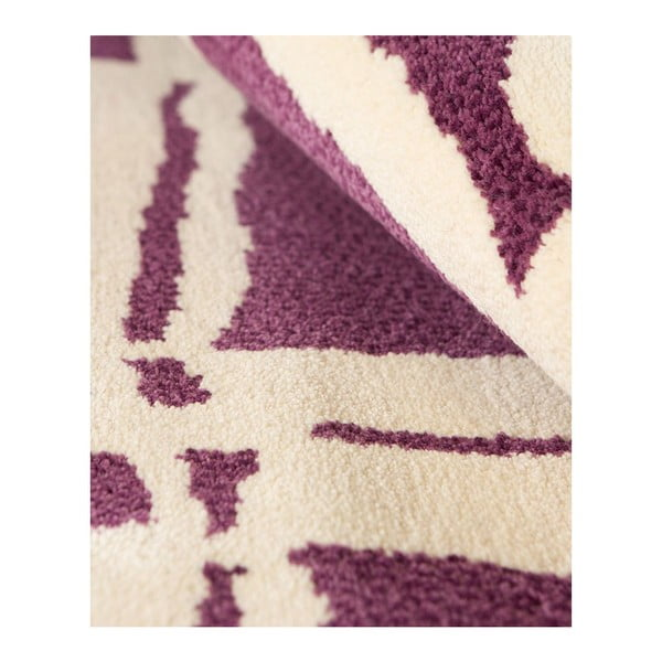 Vlnený koberec Tatoo 105 Lila, 120x160 cm