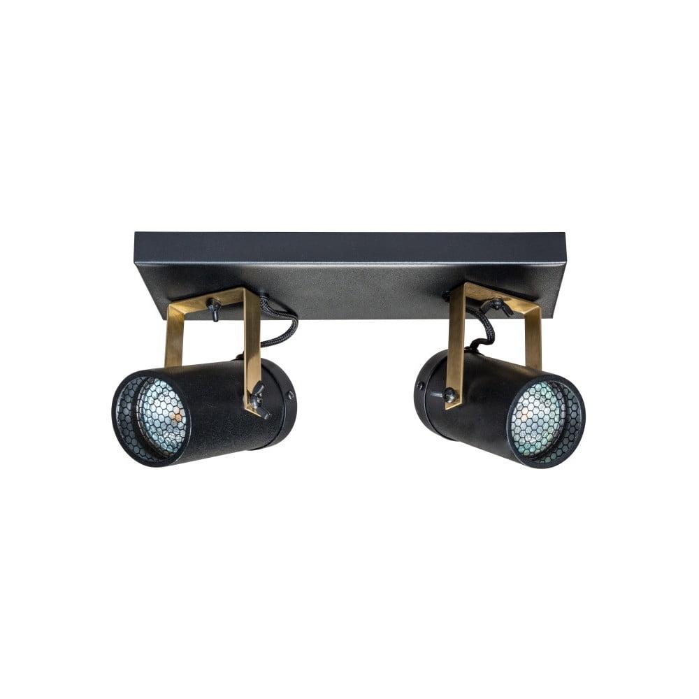 Čierne nástenné svietidlo Dutchbone Scope Duo