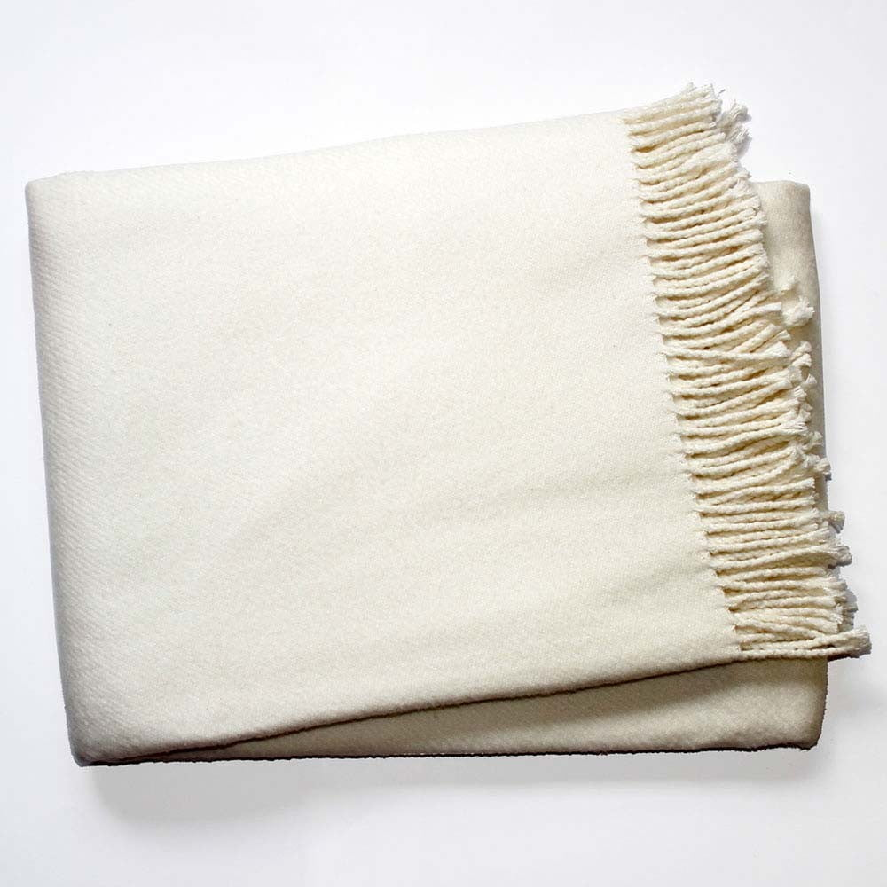 Krémovobiela deka s podielom bavlny Euromant Basics, 140 × 180 cm