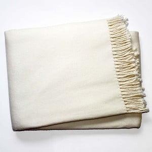Krémovo-biela deka Euromant Basics, 140x180cm