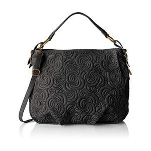 Čierna kožená kabelka Chicca Borse Murno