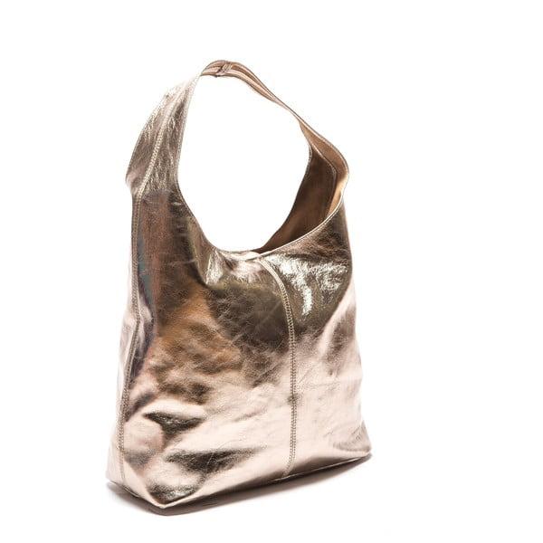 Zlatá kožená kabelka Sofia Cardoni Lucia