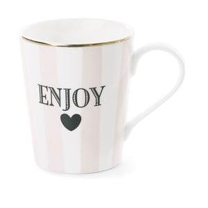Keramický hrnček Miss Étoile Coffee Enjoy Stripe Rose