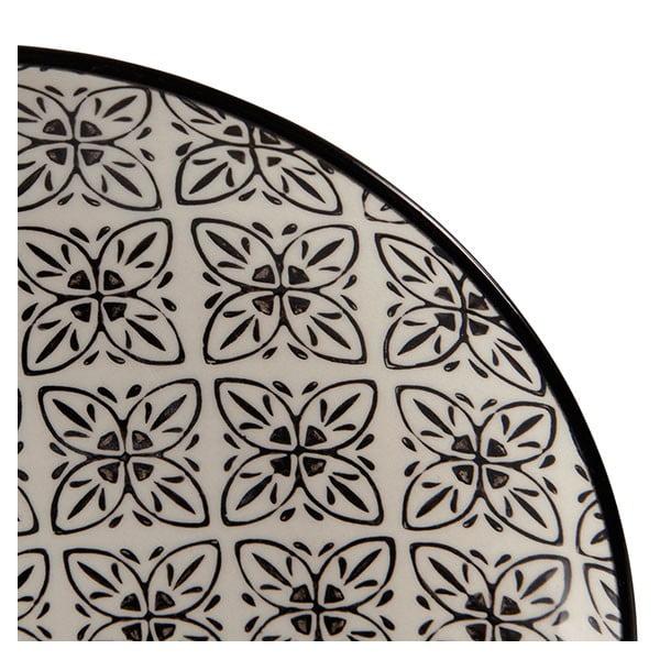 Sada 4 porcelánových tanierov Zellige, 20.5 cm
