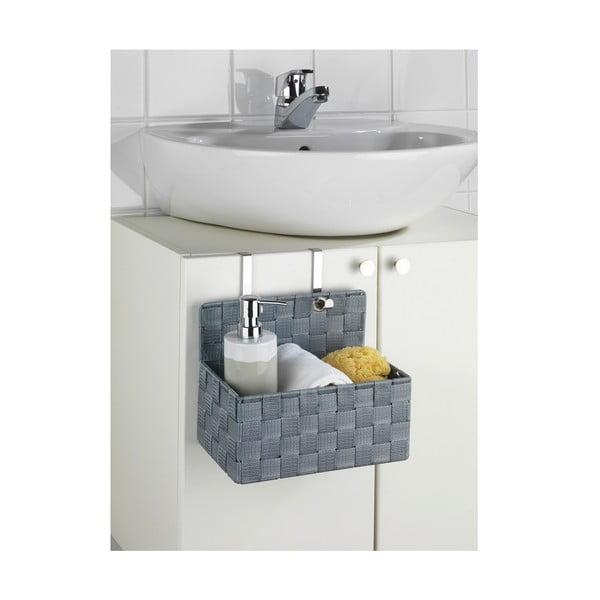 Sivý kúpeľňový organizér Wenko Adria