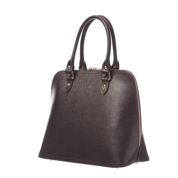 Kožená kabelka Fan Bag Brown