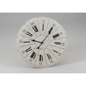 Hodiny White Clock, 68 cm