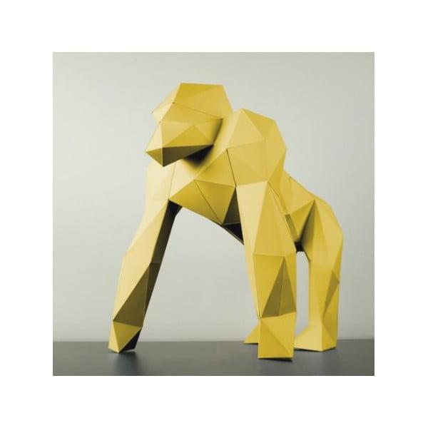 Papierová socha Gorila, žltá