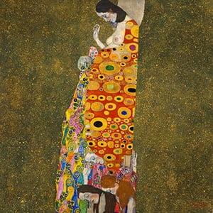 Reprodukcia obrazu Gustav Klimt - Hope, 80x80cm
