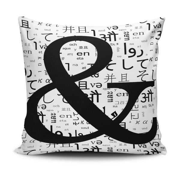 Vankúš s prímesou bavlny Cushion Love Letter, 45 × 45 cm