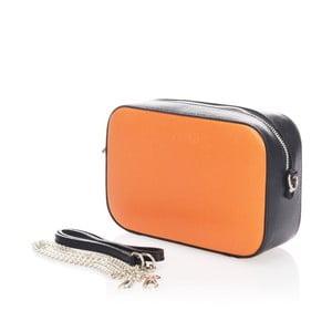 Kožené listová kabelka Krole Kath, oranžová/čierna