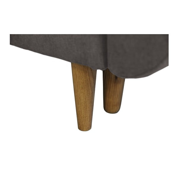 Tmavě Sivá rozkladacia pohovka so svetlými nohami Mazzini Sofas Roso