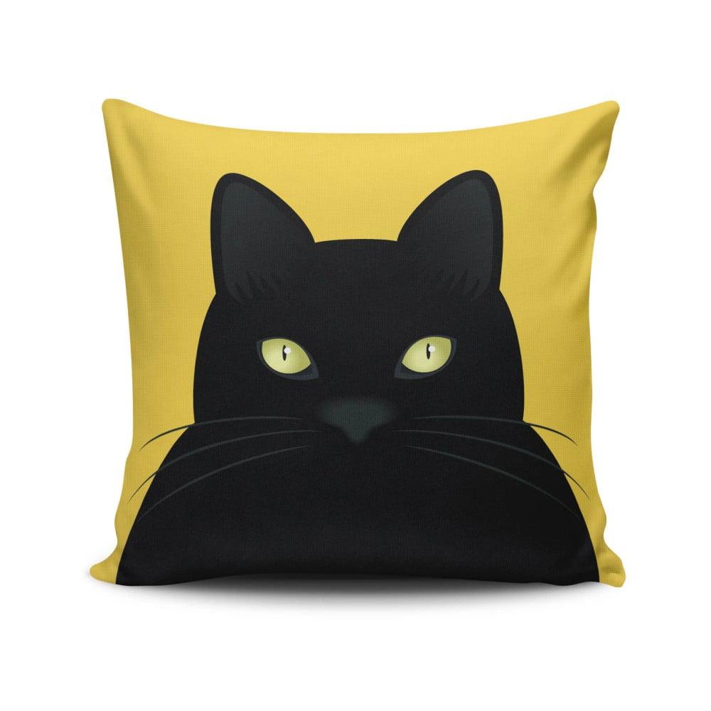 Vankúš s prímesou bavlny Cushion Love Cat, 45 × 45 cm