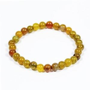 Žltý náramok z prírodných minerálov s achátom Yogaly Honey Agate