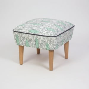 Taburet s drevenými nohami Damo Pluma, 45 × 45 cm