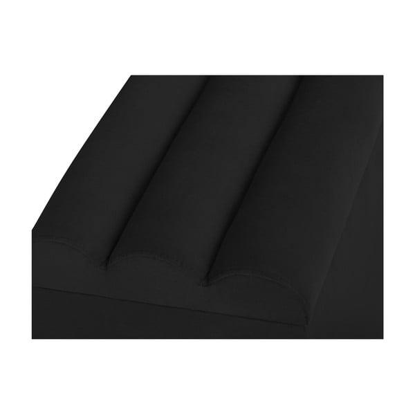 Čierny otoman s úložným priestorom Cosmopolitan Design LA, 200 x 47 cm