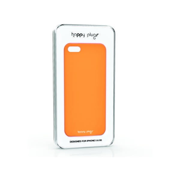 Kryt Happy Plugs na iPhone 5/5S, oranžový