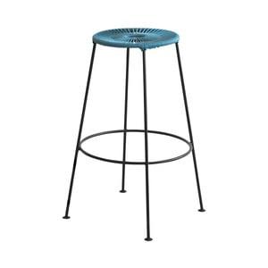 Modrá barová stolička OK Design Acapulco, výška 75 cm