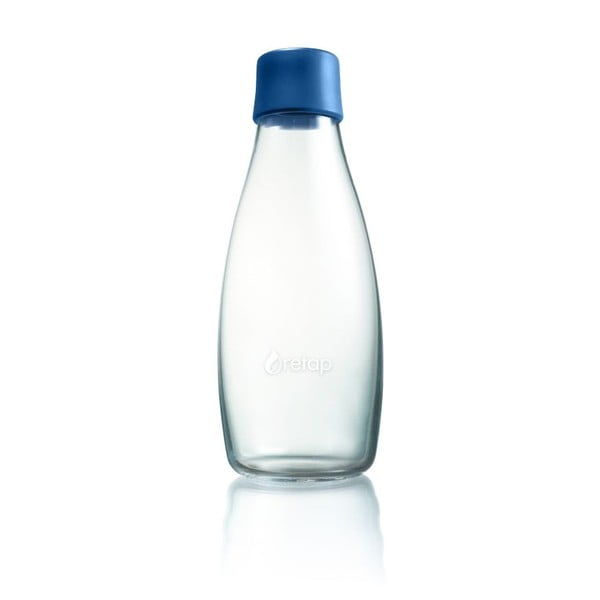 Tmavomodrá sklenená fľaša ReTap s doživotnou zárukou, 500 ml