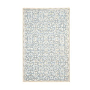 Svetlomodrý vlnený koberec Marina Blue, 152×243 cm