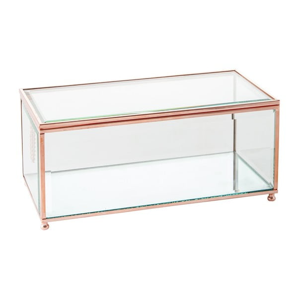 Šperkovnica J-Line Jewel Glass, 25x12 cm