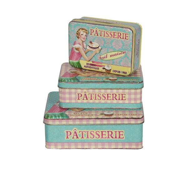 Sada 3 retro dóz Patisserie