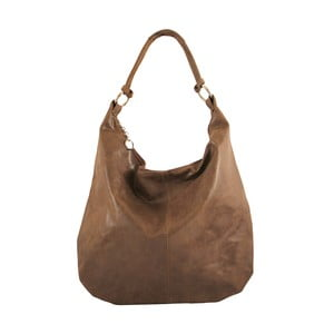 Hnedá kožená kabelka Chicca Borse Francisca