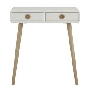 Biely konzolový stolík Steens Soft Line