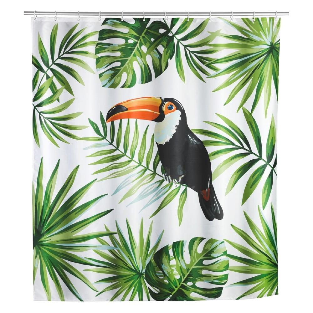 Sprchový záves Wenko Tucan, 180 × 200 cm