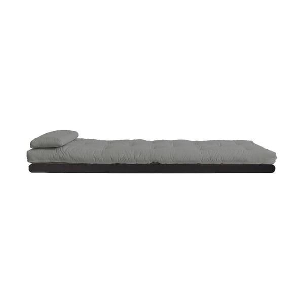 Rozkladacia leňoška se sivým poťahom Karup Design Figo Black/Grey