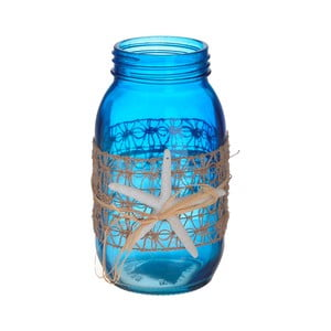 Modrá sklenená váza InArt Sea, ⌀ 10 cm