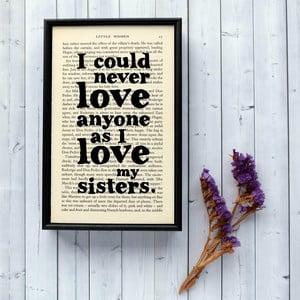 Plagát v drevenom ráme Little Women Sisters