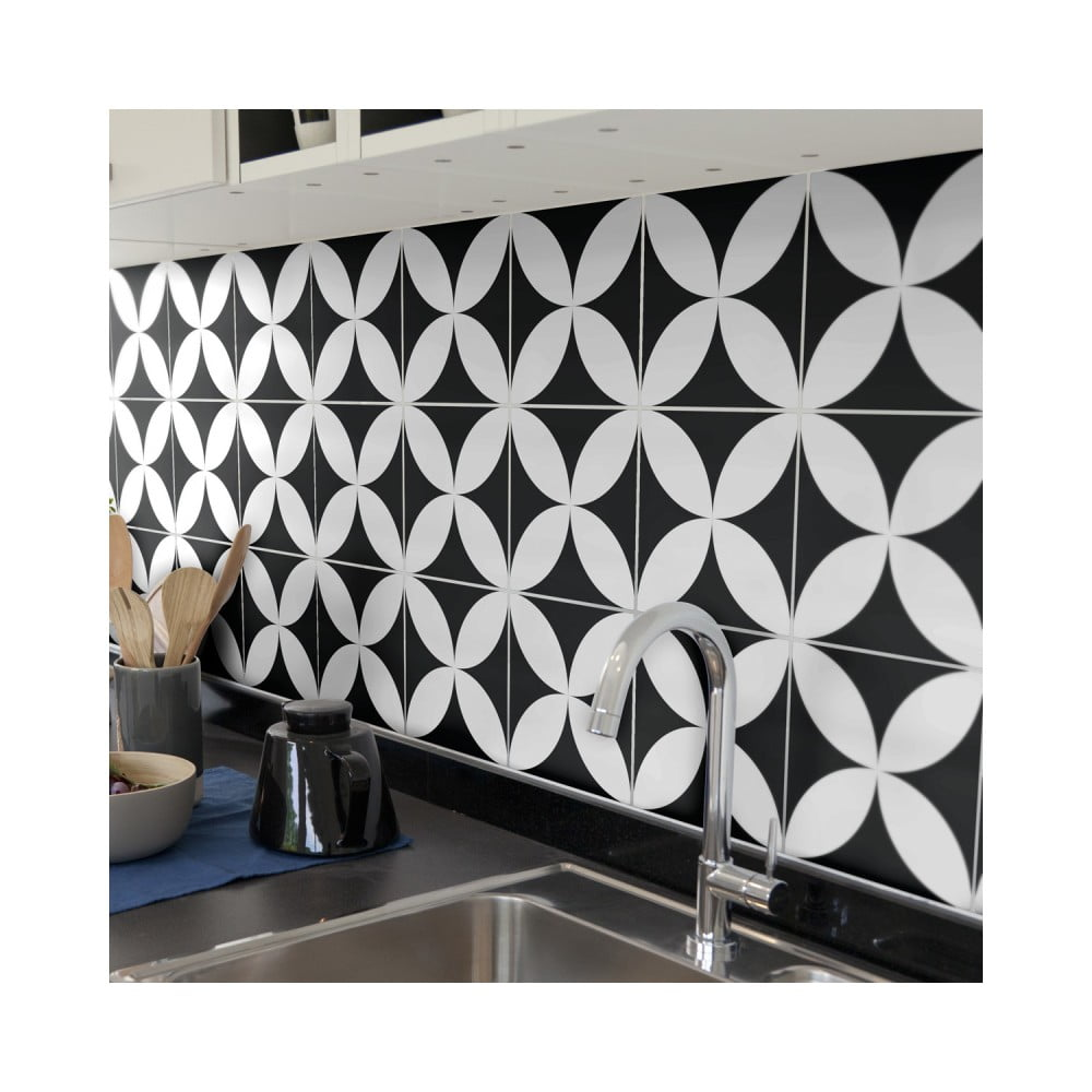Sada 9 nástenných samolepiek Ambiance Wall Decal Tiles Enzo, 20 × 20 cn